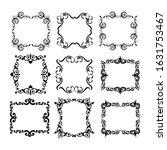 set of vintage frames on white... | Shutterstock . vector #1631753467