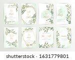 watercolor wedding set. set of... | Shutterstock .eps vector #1631779801