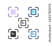 document icon flat outline...