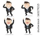 jump and run   businessman set | Shutterstock .eps vector #163179215