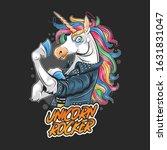 unicorn rocker jacket rider... | Shutterstock .eps vector #1631831047