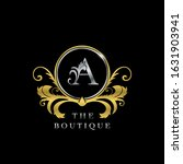 a letter golden  circle luxury  ... | Shutterstock .eps vector #1631903941