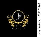j letter golden  circle luxury  ... | Shutterstock .eps vector #1631903947