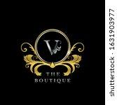 v letter golden  circle luxury  ... | Shutterstock .eps vector #1631903977