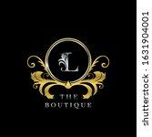 l letter golden  circle luxury  ... | Shutterstock .eps vector #1631904001