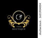 o  letter golden  circle luxury ... | Shutterstock .eps vector #1631904004