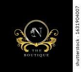 n  letter golden  circle luxury ... | Shutterstock .eps vector #1631904007