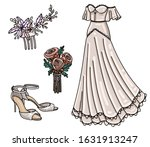 set of vector bridal  the... | Shutterstock .eps vector #1631913247