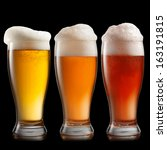 Different Beer In Glasses...