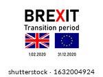 brexit concept. uk after brexit.... | Shutterstock .eps vector #1632004924