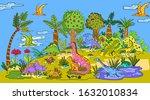 vector illustration with... | Shutterstock .eps vector #1632010834