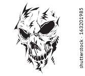 futuristic hi tech vector skull | Shutterstock .eps vector #163201985