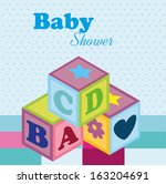 baby design over dotted ... | Shutterstock .eps vector #163204691