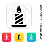 christmas candle icon. vector...
