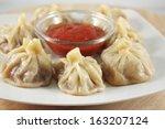 nepalese traditional dumpling... | Shutterstock . vector #163207124