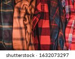 brightly colored checkered... | Shutterstock . vector #1632073297