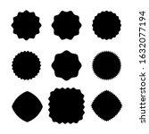 starburst sticker set  label ...   Shutterstock .eps vector #1632077194