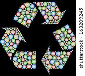 recycling symbol drawn from the ... | Shutterstock .eps vector #163209245