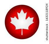canada fag icon circle 3d... | Shutterstock .eps vector #1632118924