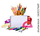 back to school concept   photo... | Shutterstock . vector #163217669