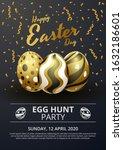 happy easter poster template... | Shutterstock .eps vector #1632186601