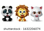 animal characters vector set.... | Shutterstock .eps vector #1632206074