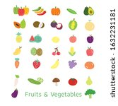 set of fruits and vegetables... | Shutterstock .eps vector #1632231181