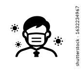 faceless man  upper body ... | Shutterstock .eps vector #1632234967