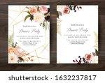 moody boho chic wedding vector... | Shutterstock .eps vector #1632237817