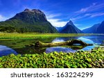 mirror lakes along the way to...   Shutterstock . vector #163224299
