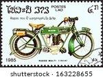 laos   circa 1985  a stamp... | Shutterstock . vector #163228655