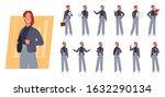 business woman character set.... | Shutterstock .eps vector #1632290134
