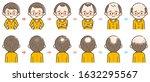 information chart of hair loss... | Shutterstock .eps vector #1632295567