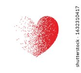 a heart with a dispersion...   Shutterstock .eps vector #1632310417