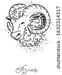 aries zodiac sign.vector... | Shutterstock .eps vector #1632314317