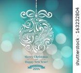 vector background with... | Shutterstock .eps vector #163232804