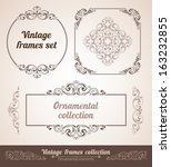 set of ornate frames with...   Shutterstock .eps vector #163232855