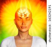 meditation illustration | Shutterstock . vector #163242191