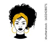 black woman portrait. afro... | Shutterstock .eps vector #1632428071
