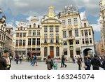 brussels  belgium   april 8  ... | Shutterstock . vector #163245074