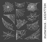 bundle of spider webs or... | Shutterstock .eps vector #1632477334