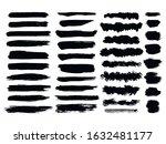 set of grunge brushes.... | Shutterstock .eps vector #1632481177