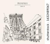 madurai  tamil nadu  south... | Shutterstock . vector #1632489067