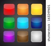 set of color apps icons   ... | Shutterstock .eps vector #163249601