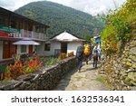ghorepani poon hill  nepal   14 ... | Shutterstock . vector #1632536341