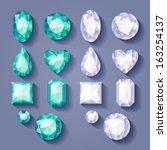 set of realistic jewels.... | Shutterstock .eps vector #163254137