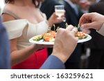appetizer buffet canape   Shutterstock . vector #163259621