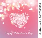 vector heart on a pink... | Shutterstock .eps vector #1632648814