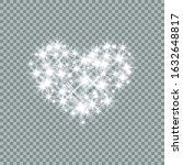 heart  lights  stars and blurs... | Shutterstock .eps vector #1632648817