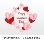 valentine s day background with ... | Shutterstock .eps vector #1632651451
